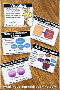 Reading Comprehension Bookmarks to Support Academic Language Reading Resources, Reading Skills, Teaching Reading, Guided Reading, Speed Reading, Teaching Tools, Teaching Ideas, Reading Comprehension Posters, Reading Posters