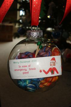 Emergency Knitting Christmas Ornament DSC02258 by spoonsnspools, via Flickr