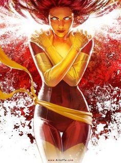 Phoenix (Jean Grey) by ArtofTu - Marvel Comics Dark Phoenix, Jean Grey Phoenix, Phoenix Art, Phoenix Force, Phoenix Marvel, Phoenix Rising, Comics Anime, Marvel Dc Comics, Marvel Heroes