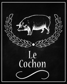 Cow Bon Appetit Chalkboard Printable by DigitalDownloadShop  also hog and chicken