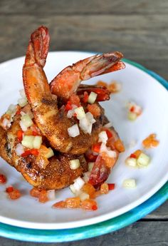 Cajun Spiced Shrimp with Citrus-Cucumber Salsa by cookingonweekends #Shrimp #Cajun