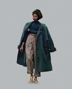 Street Style by Daniel Clarke - The Art Showcase Laura Lee, Fashion Art, Fashion Outfits, Fashion Design, Fashion Trends, African Street Style, Human Poses Reference, Body Poses, Japanese Street Fashion