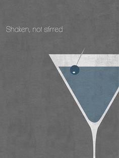 JAMES BOND 007 :: Shaken, Not Stirred Illustration by Unknown Artist