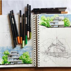 "17.7k Likes, 20 Comments - Architecture - Daily Sketches (@arch_more) on Instagram: ""By @mutonisketches #arch_more"""