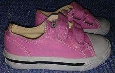 Joe Boxer Girls Lil Miles Pink Toddler 9M Canvas Sneaker Velcro Casual Play Kids