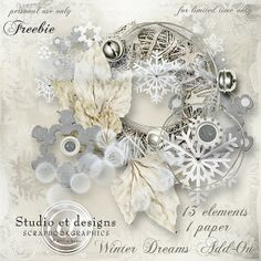 et designs: **FREEBIE Winter Dreams Add-On** Only for limited time