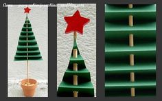 Sapin en pliage Noel Christmas, Winter Christmas, Christmas Crafts, Xmas, Art Plastique, Art Lessons, Crafts For Kids, Projects To Try, Nursery