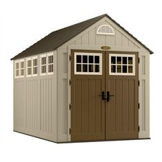 Suncast Alpine 7 ft. 5-3/4 in. x 10 ft. 8 in. Resin Storage Shed-BMS8000 at The Home Depot