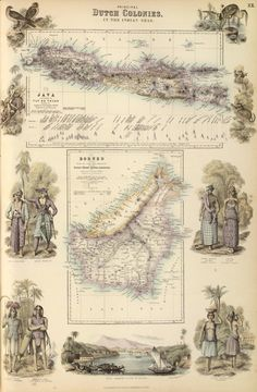 1872 Map, Principal Dutch Colonies in the Indian Seas