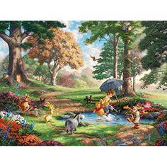 Thomas Kinkade Disney, Thomas Kinkade Art, Disney Winnie The Pooh, Disney Love, Graffiti Kunst, Kinkade Paintings, Oil Paintings, Thomas Kincaid, Disney Kunst