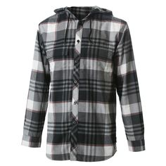 Burton Ruckus Hooded Flannel Shirt (Men's) #peterglenn Hooded Flannel, Mens Flannel Shirt, Gay Outfit, What To Pack, Lesbian, Button Up Shirts, Hoods, Raincoat, Husband