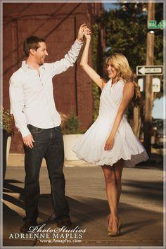 Engagement Session: Fabulously fun dress!
