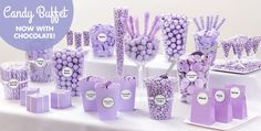Lavender Candy Buffet Supplies - Lavender Candy & Containers - Party City
