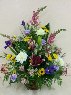 Fresh basket arrangement
