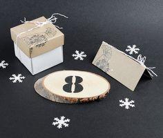 Pöytänumeron voi tehdä vaikka sablonin avulla puukiekkoon. Tarvikkeet ja ideat Sinellistä!