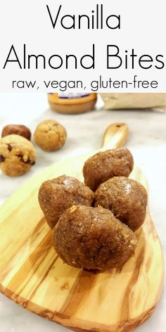 Vanilla Almond Bites | raw, vegan, gluten-free, date-sweetened | BeetsNotMeats.com