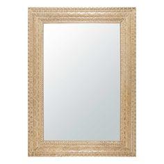 Miroir en manguier sculpté et blanchi 110x152cm MANAVA