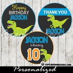 Kitchen, Dining & Bar Baking Accs. & Cake Decorating Dinosaur Roar {bronto} Edible Cupcake Toppers Decoration Year-End Bargain Sale