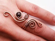 Wire+Wrapped+Adjustable+Copper+Ring++wire+wrapped+by+GearsFactory,+€15.00
