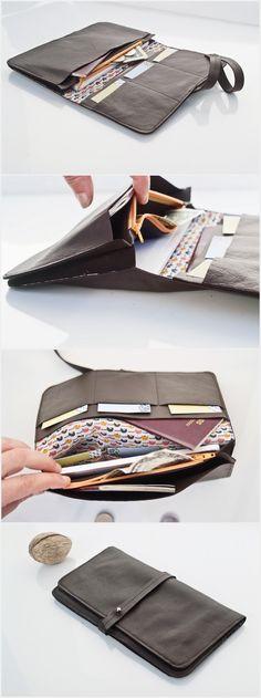 730fdeb5854f52 Maroquinerie artisanale, portefeuille, blague, sacs en cuir fait-main  personnalisé