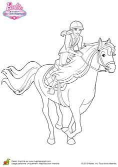 Barbie and her sisters in a Pony Tale coloring pages Barbie Coloring Pages, Horse Coloring Pages, Fairy Coloring Pages, Coloring Pages For Girls, Disney Coloring Pages, Coloring For Kids, Coloring Books, Barbie Pony, Barbie Horse