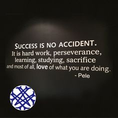 Success is not an accident.