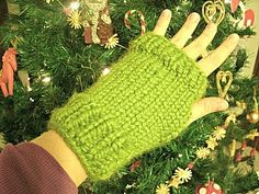Free knitting pattern for these fingerless gloves using chunky yarn. A quick knit that only takes around 2 hours for a pair! -- make pattern using straight needle