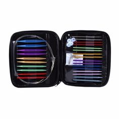 Set of 13 Sizes Interchangeable Circular Knitting Needle Kit 2.75mm-10mm with Case