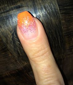 LE Neon Orange & Sweet Nothing Uv Gel Nails, Sweet Nothings, Neon, Orange, Nail Gel, Neon Tetra