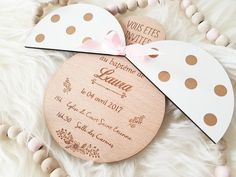 Invitation baptism ladybird wings removable birth announcement original baptism birth birthday baby girl and boy Invitation baptême coccinelle … Baptism Party, Baby Party, Diy And Crafts, Crafts For Kids, Paper Crafts, Baby Boy Wreath, Laser Cutter Ideas, Birth Announcement Boy, Birthday Photos
