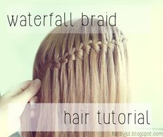 Fryzury krok po kroku- waterfall braid- warkocz wodospad - Hair by Jul- fryzury krok po kroku Braids, Braid Hair, Braided Hairstyles Tutorials, Braid Styles, Hair Hacks, Bobby Pins, Waterfall, Hair Beauty, Hair Accessories