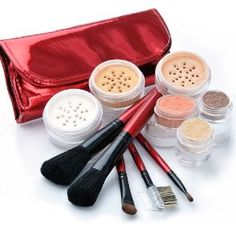 "Amazon.com: IQ Natural Large Mineral Makeup Kit; 12pc ""MEDIUM"" Get Started Set includeds 6pc Brush Set: Beauty"