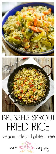 Meatless Monday: Brussels Sprout Fried Rice | #vegan #cleaneating #glutenfree #meatlessmonday