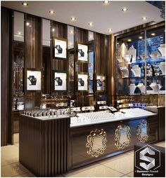 Designer jewelry shops: jewelry store interior design on behance. Jewelry Store Displays, Jewellery Shop Design, Jewellery Showroom, Jewelry Stores, Jewelry Shop, Luxury Jewelry, Jewelry Display Stands, Jewelry Stand, Art Deco