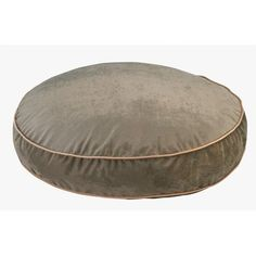 Super Soft Round Bed in Green Apple Bones Fabric X Large 52 x 8 in >>> Click image to review more details.