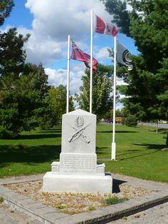 Ontario War Memorials: Ingleside.  Location: County of Stormont, Dundas and Glengarry   N 44 59.860  W 074 59.442 On the north side on Maple Street N, at Memorial Square.