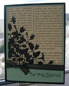 Make & Take - My Friend (SUO) by ReginaBD - Cards and Paper Crafts at Splitcoaststampers