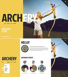 JavaScript Based #template // Regular price: $67 // Unique price: $4100 // Sources available: .HTML,  .PSD #Sport #JavaScript #Archery