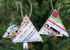 Set of 3 Quilted Selvage CHRISTMAS TREE by carolinasquirrell, $15.00