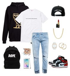 """Time"" by kellexdivet ❤ liked on Polyvore featuring interior, interiors, interior design, home, home decor, interior decorating, October's Very Own, Trukfit, MAC Cosmetics and Citizens of Humanity"