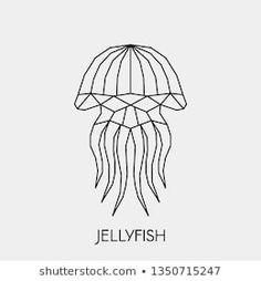 Stock Photo and Stock Image Portfolio by Marinika Jellyfish Light, Pink Jellyfish, Geometric Drawing, Geometric Shapes, 3d Zeichenstift, Coffee Cup Art, Artwork Lighting, Textile Sculpture, Diy Crafts