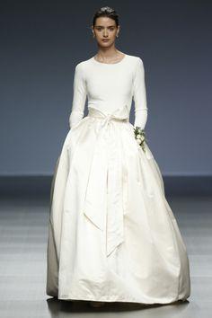 Sleek Separates: http://www.stylemepretty.com/2015/05/19/prettiest-wedding-dresses-from-barcelonas-bridal-week/
