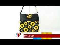 Bolsa de tecido passo a passo Susan - Maria Adna Ateliê - Cursos e aulas de bolsas de tecido - YouTube