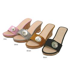 Journee Collection Single Strap Wedge Sandals