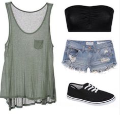 Cute summer outfits, cool outfits, spring outfits, outfits for teens, pre. Cute Summer Outfits, Outfits For Teens, Spring Outfits, Girl Outfits, Casual Outfits, Fashion Outfits, Casual Summer, Rock Outfits, Summer Clothes