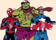 Cap, Spidey & Hulk Caroling