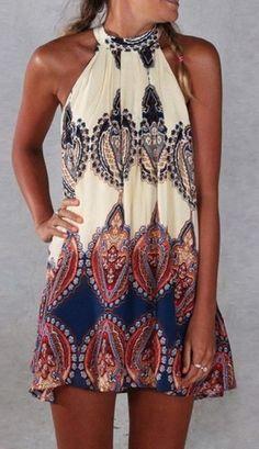 Baroque Printed Shift Dress