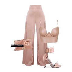Honey Couture top, Prettylittle Things trousers, Chanel bag and Saint Laurent shoes. #fashion#style#image#ootd#silkpants#blushtyles#blushvibes#neutrals#prettylittlethings#honeycouture#saintlaurent #hermes#chanel