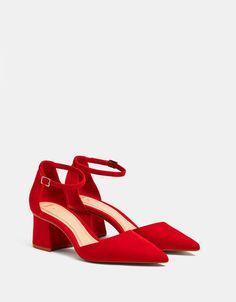 Bershka France - Chaussures à talon moyen rouges