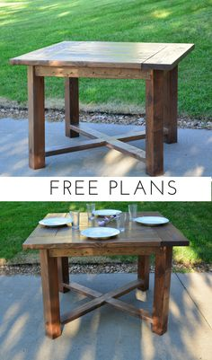 X Base Square Farmhouse Dining Table Build your own X Base Square Farmhouse Dining Table with these simple free plans from Bitterroot DIY. The post X Base Square Farmhouse Dining Table appeared first on Woodworking Diy. Farmhouse Table Plans, Farmhouse Kitchen Tables, Farmhouse Furniture, Furniture Plans, Diy Furniture, Farmhouse Decor, Country Furniture, Woodworking Furniture, Furniture Design